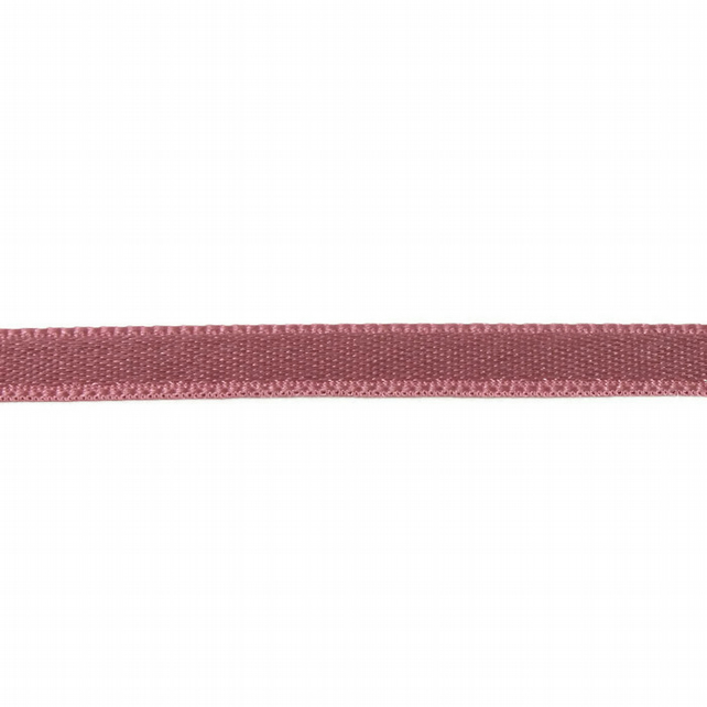 Double Satin Ribbon - Dusty Rose - 6mm