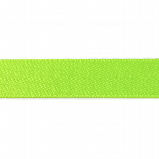 Double Satin Ribbon - Fluorescent Yellow - 15mm