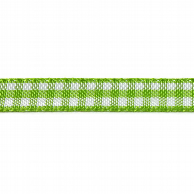 Berisfords Gingham Ribbon - Meadow - 10mm