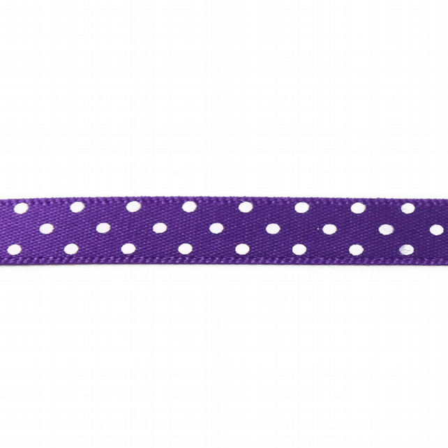 Berisfords Micro Dot Ribbon - Purple - 10mm