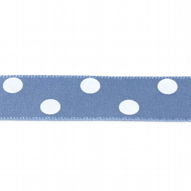 Berisfords Polka Dot Ribbon - Cornflower - 15mm