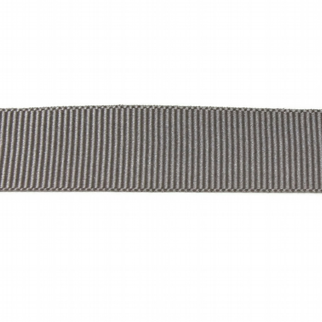 Berisfords Grosgrain Ribbon - Grey - 10mm