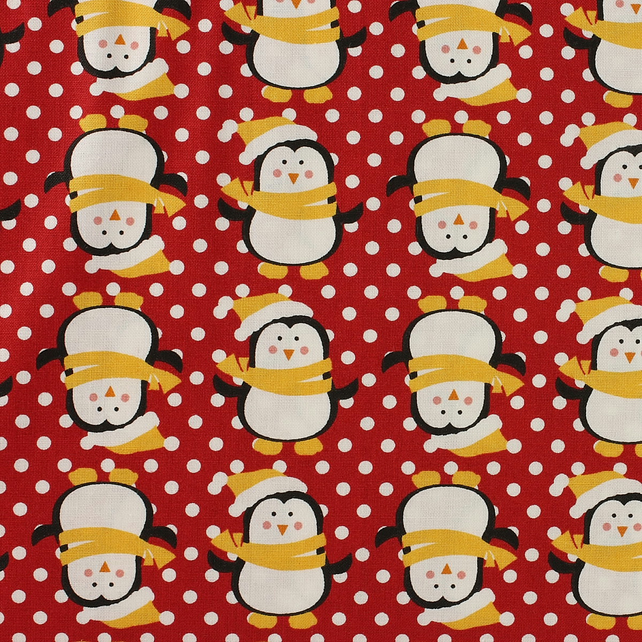 Fabric Freedom - Christmas Characters - Penguins - Fat Quarter