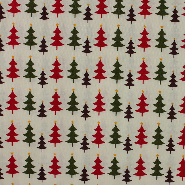 Fabric Freedom - Christmas Characters - Christmas Trees - Fat Quarter