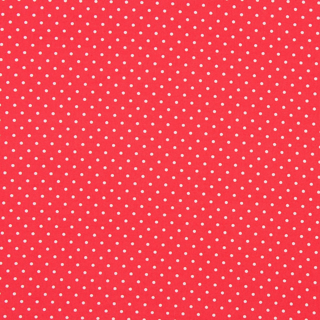 Fabric Freedom - Cotton Poplin - Red with White Spots - Fat Quarter