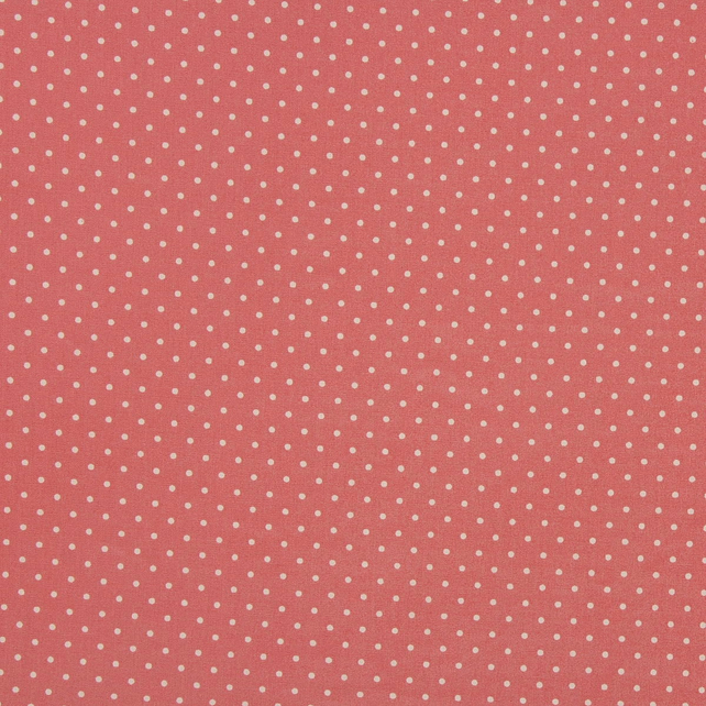 Fabric Freedom - Cotton Poplin - Dusky Pink with White Spots - Fat Quarter