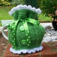 Summer Tea Party Hand Knitted Tea Cosie