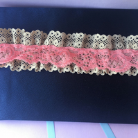 Bright colour pop wedding garter