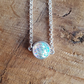Handmade holographic mermaid scale cabochon choker necklace