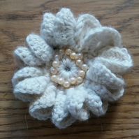 Cream Brooch
