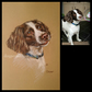 Custom dog portrait commission from your own photos A4 custom pet