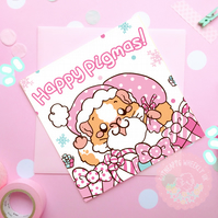 """Happy Pigmas"" Christmas Guinea Pig Card"