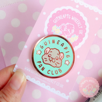 Guinea Pig Enamel Pin - Mint Pastel Piggy Fan Club Pin