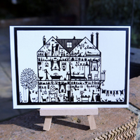 Folk Art House - greetings cards