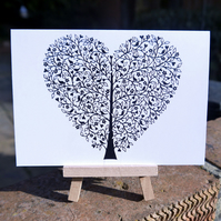 Tree of Life Heart - Valentines Card
