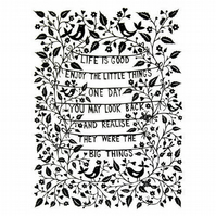 A4 Print: Life is Good papercut giclee