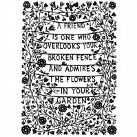 A4 Print: A Friend...papercut giclee