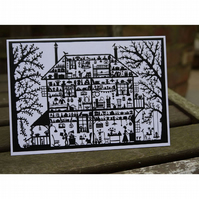Cross-Section House - Greetings Card