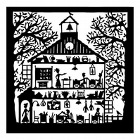 Folk Art Schoolhouse print