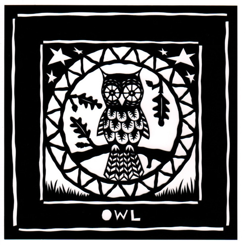 Papercut Owl card