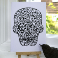 Sugar Skull - Greetings Card