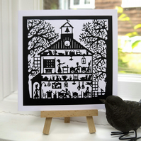 Schoolhouse - Greetings Card