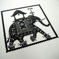 Indian Elephant - PRINT 16cm x 16cm