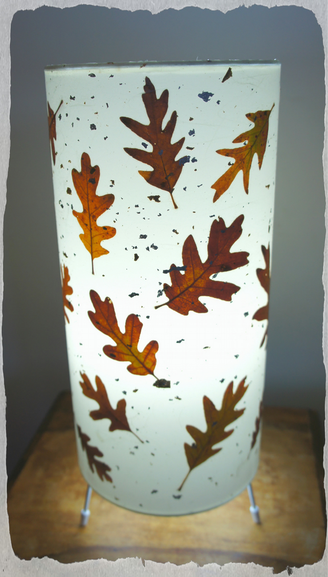 English Oak Leaf Table Lamp