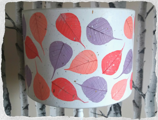 30 cm bright Bodhi Leaf Lampshade with Japanese angel hair paper