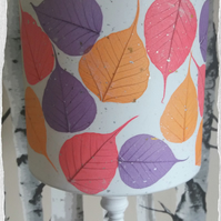 20 cm Red, tangerine & purple leaf lampshade