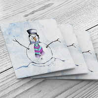 Christmas Cards - Packs of 6 - Snowman design