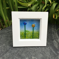 Fused glass flower garden picture