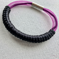 Black and purple cord bangle.