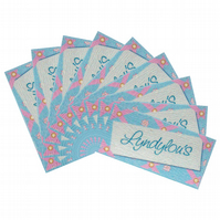 50 x Printed fabric sew-in labels (40mm x 20mm)