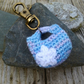 Key and Bag Charm: Blue and Lilac Mini Handbag, Fun Keyrings
