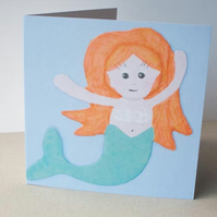 Mermaid Card by artist Purple Faye