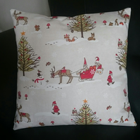 Christmas Winter Woodland theme cushion cover