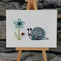 The Snail and the Ladybird Wire Art Picture