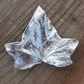 Brooch made from real ivy leaf dipped in silver!