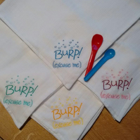 Embroidered Muslin (Burp Cloth)
