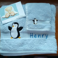 Child's Personalised Towel & Flannel Set