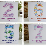 Personalised Children's Age Birthday Card