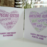 Personalised Heart Birthday Card
