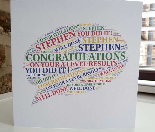Personalised Exam Congratulations Card