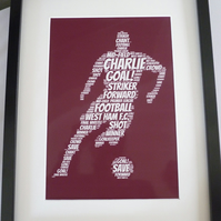 A4 PERSONALISED FOOTBALLER PRINT