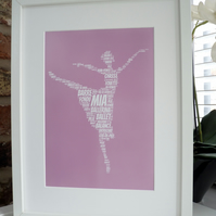 A4 PERSONALISED BALLERINA PRINT