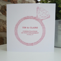 Personalised Engagement Ring Card