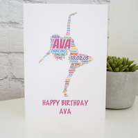 Personalised Dancer Card
