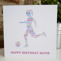 Girl Footballer Card