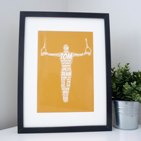 Personalised Male Gymnast Print (2)